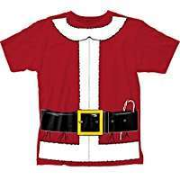 DIY Halloween Costume Idea - Santa Shirt