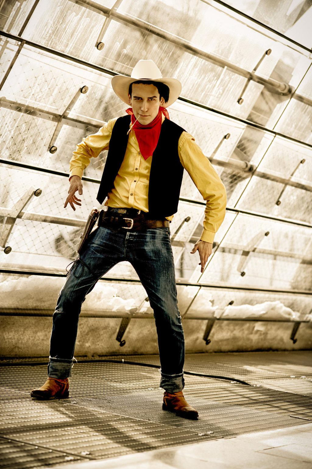 diy cowboy lucky luke costume. Black Bedroom Furniture Sets. Home Design Ideas