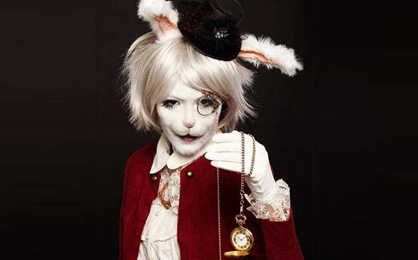 DIY Alice in Wonderland White Rabbit March Hare Halloween Costume Idea