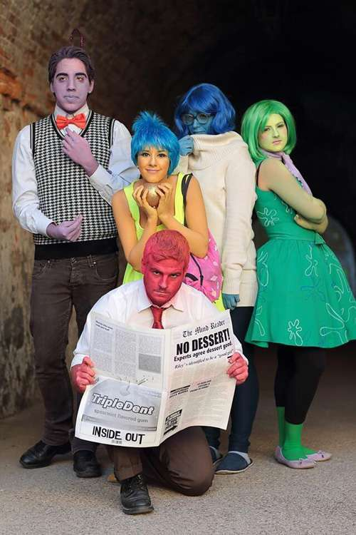 DIY Inside Out Halloween Group Costume Idea for 5