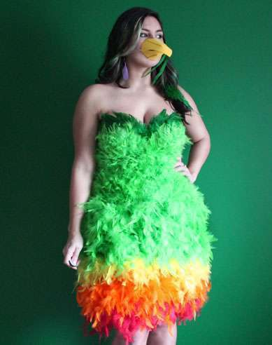 DIY Parrot Halloween Costume Idea