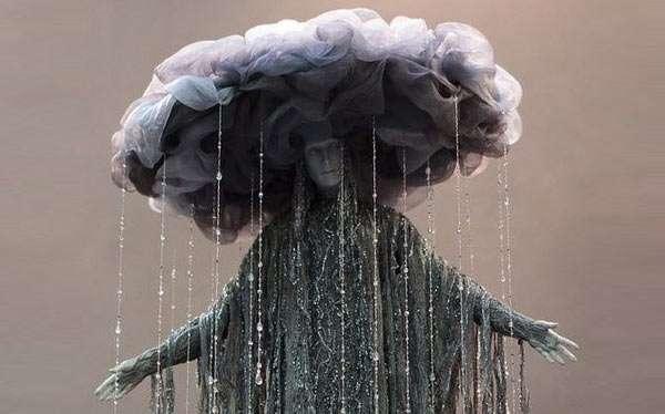 DIY Rain Cloud Thunderstorm El Niño Costume