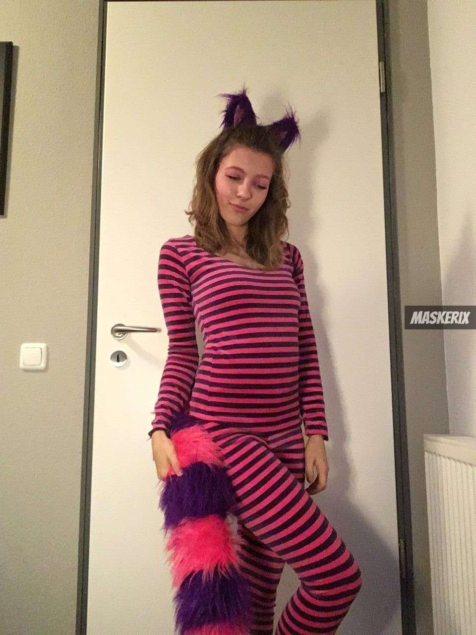 DIY Alice in Wonderland Cheshire Cat Halloween Costume ...