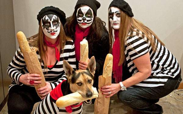 DIY French KISS Halloween Costume Idea