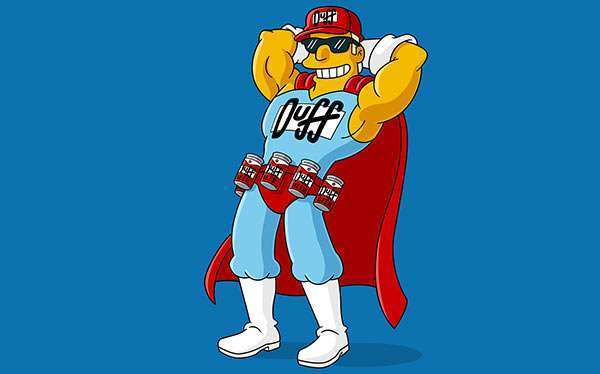 DIY Simpsons Duffman Costume