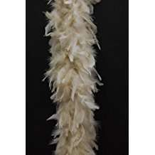 DIY Halloween Costume Idea - Beige Feather Boa