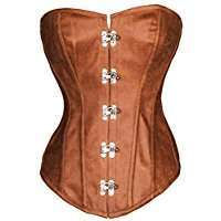 DIY Halloween Costume Idea - Brown Corset
