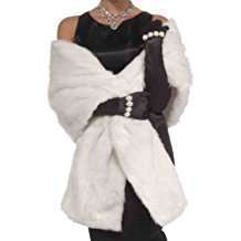DIY Halloween Costume Idea - White Fur Stoles