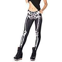DIY Skeleton Halloween Costume Idea - Leggings