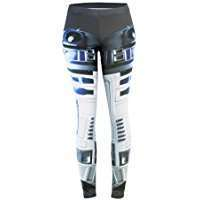 DIY Star Wars R2D2 Halloween Costume Idea - Leggings