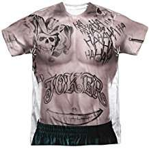 DIY Suicide Squad Joker Halloween Costume Idea - Tattoo Shirts