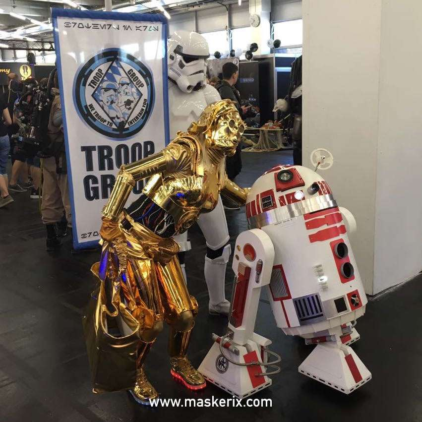 maskerix - DIY Star Wars C3PO Halloween Costume Idea