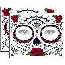 DIY Catrina Day of the Dead Halloween Costume Idea - Sugar Skull Tattoos