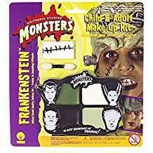 DIY Frankenstein Halloween Costume Idea - Make Up Kit