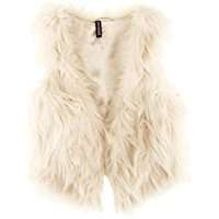 DIY Halloween Christmas Costume Idea - White Fur Vest