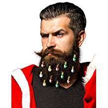 DIY Halloween Christmas SantaCon Costume Idea - Beard Baubles