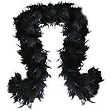 DIY Halloween Costume Idea - Black Feather Boa