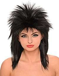 DIY Halloween Costume Idea - Black Rock Wig