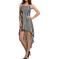 DIY Halloween Costume Idea - Black Striped Dress
