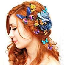 DIY Halloween Costume Idea - Butterfly Hair Clips