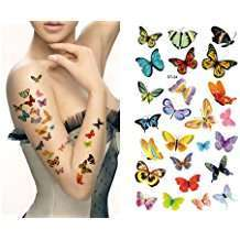 DIY Halloween Costume Idea - Butterfly Tattoos