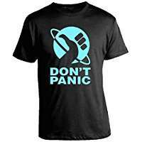 DIY Halloween Costume Idea - Don't Panic Shirt