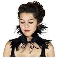 DIY Halloween Costume Idea - Feather Choker