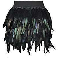 DIY Halloween Costume Idea - Feather Skirt