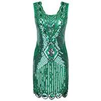 DIY Halloween Costume Idea - Green Flapper Dress