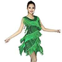 DIY Halloween Costume Idea - Green Fringe Dress