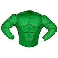 DIY Halloween Costume Idea - Green Super Muscle Shirt
