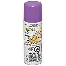 DIY Halloween Costume Idea - Purple Hair Spray