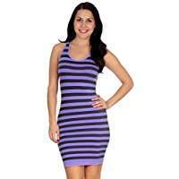 DIY Halloween Costume Idea - Purple Striped Dress