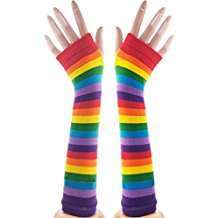 DIY Halloween Costume Idea - Rainbow Arm Warmers