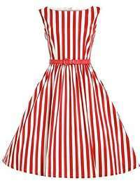 DIY Halloween Costume Idea - Red Striped Dress