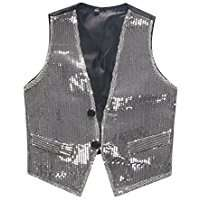 DIY Halloween Costume Idea - Silver Sequin Vest