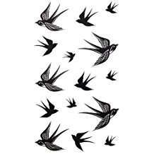 DIY Halloween Costume Idea - Swallow Tattoos