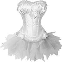 DIY Halloween Costume Idea - White Corset Dress