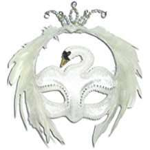 DIY Halloween Costume Idea - White Swan Mask