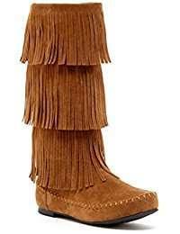 DIY Pocahontas Halloween Costume Idea - Fringe Boots