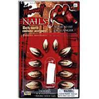 DIY Werewolf Halloween Costume Idea - Nails