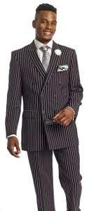 DIY Halloween Costume Idea - Black Striped Suits
