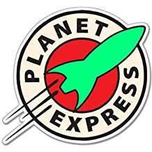 DIY Futurama Halloween Costume Idea - Planet Express Sticker
