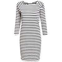 DIY Halloween Costume Idea - Black & White Striped Dress