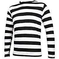 DIY Halloween Costume Idea - Black & White Striped Shirt