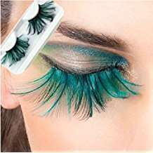 DIY Halloween Costume Idea - Green Eyelashes