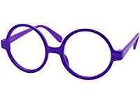DIY Halloween Costume Idea - Purple Round Glasses