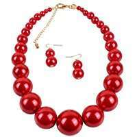 DIY Halloween Costume Idea - Red Pearls Necklace