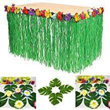 Motto Party Ideas - Grass Table Skirts