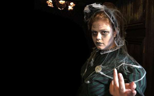 DIY Haunted Mansion Maid Halloween Costume Idea